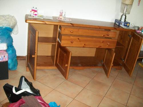 Mobile legno massello per soggiorno roma arredamento for Arredamento soggiorno roma