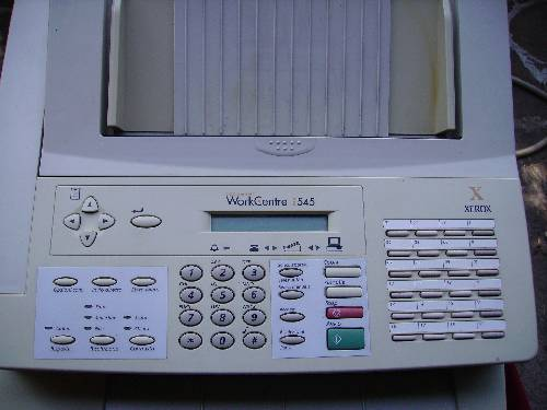 Fax Erox Word Center Pro 545
