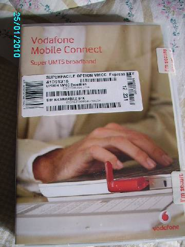 PC card Vodafon mobile