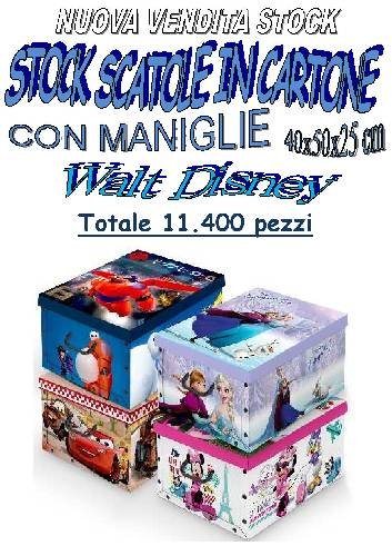 Stock scatole in cartone walt disney