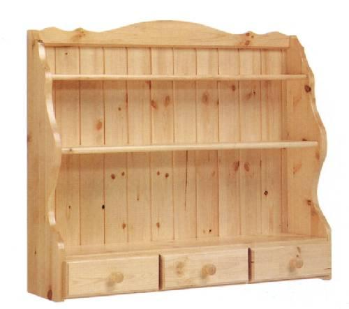 Piattaia 3 cassetti in legno massello rovigo for Arredamento legno massello